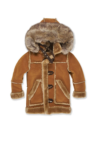 Kids Denali Shearling Jacket (Cognac)