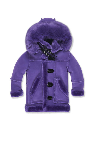 Kids Denali Shearling Jacket (Purple)