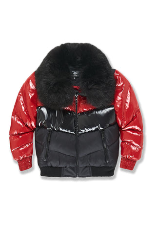 Kids Sugar Hill Nylon Puffer Jacket (Crimson)