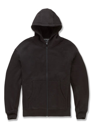 JCA Zip Up Hoodie (Black)
