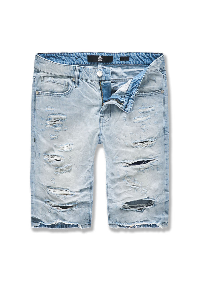 Big Men's Belmar Denim Shorts (Ice Blue)
