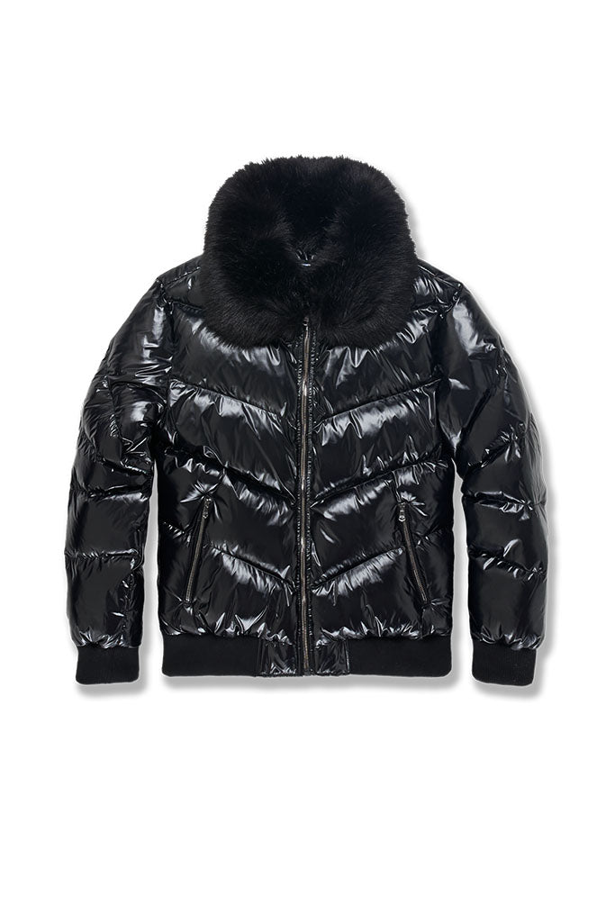 Big Men's Lenox Nylon Puffer Jacket (Black)