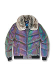 Oil Spill Puffer Jacket (Iridescent)