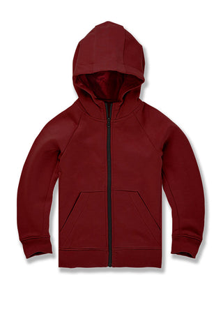 Kids Uptown Zip Up Hoodie (Wine)
