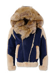 Anchorage Shearling Moto Jacket (Admiral Blue)