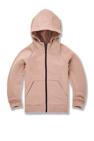 Kids Uptown Zip Up Hoodie (Blush)