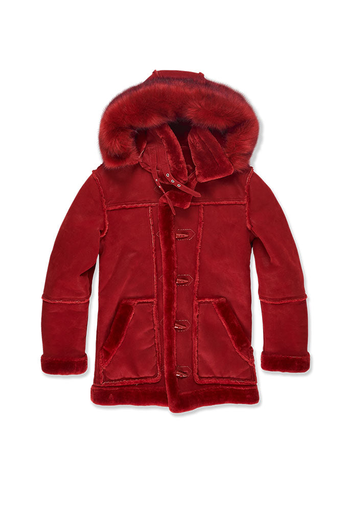 Big Men's Denali Shearling Jacket (Red)
