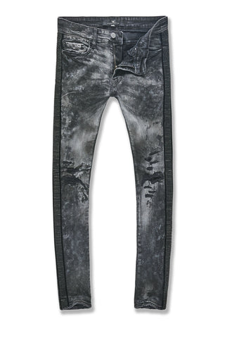 Ross - Vegas Striped Denim (Triple Black)