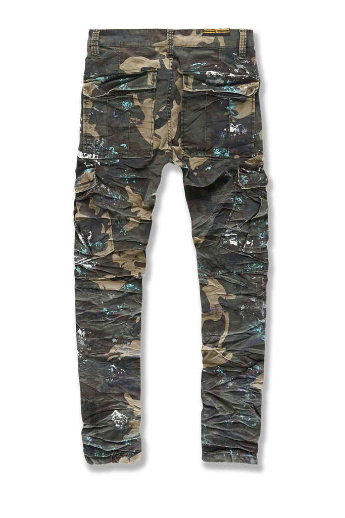 Sean - Highland Stacked Cargo Pants (Woodland)