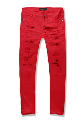 Big Men's Aaron Tribeca Twill Pants (Red)