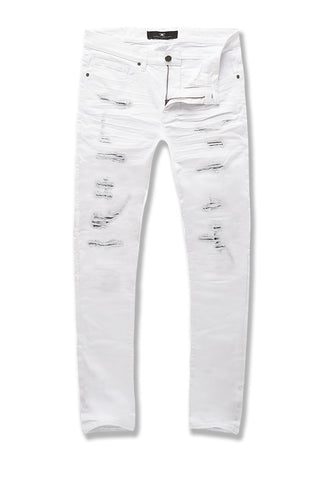 Big Men's Aaron Tribeca Twill Pants (White)