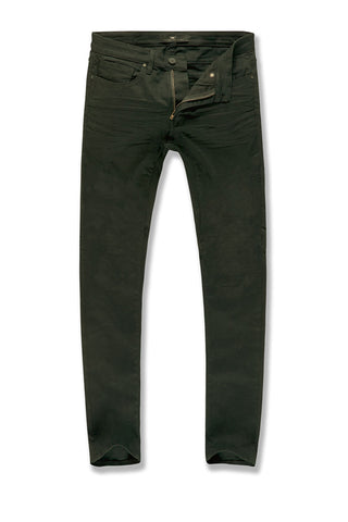 Sean - Pure Tribeca Twill Pants (Army Green)