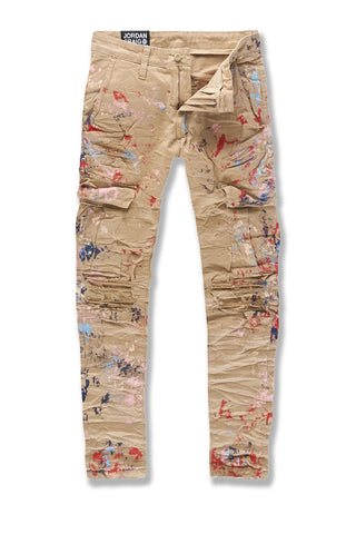 Sean - Highland Stacked Cargo Pants (Khaki)