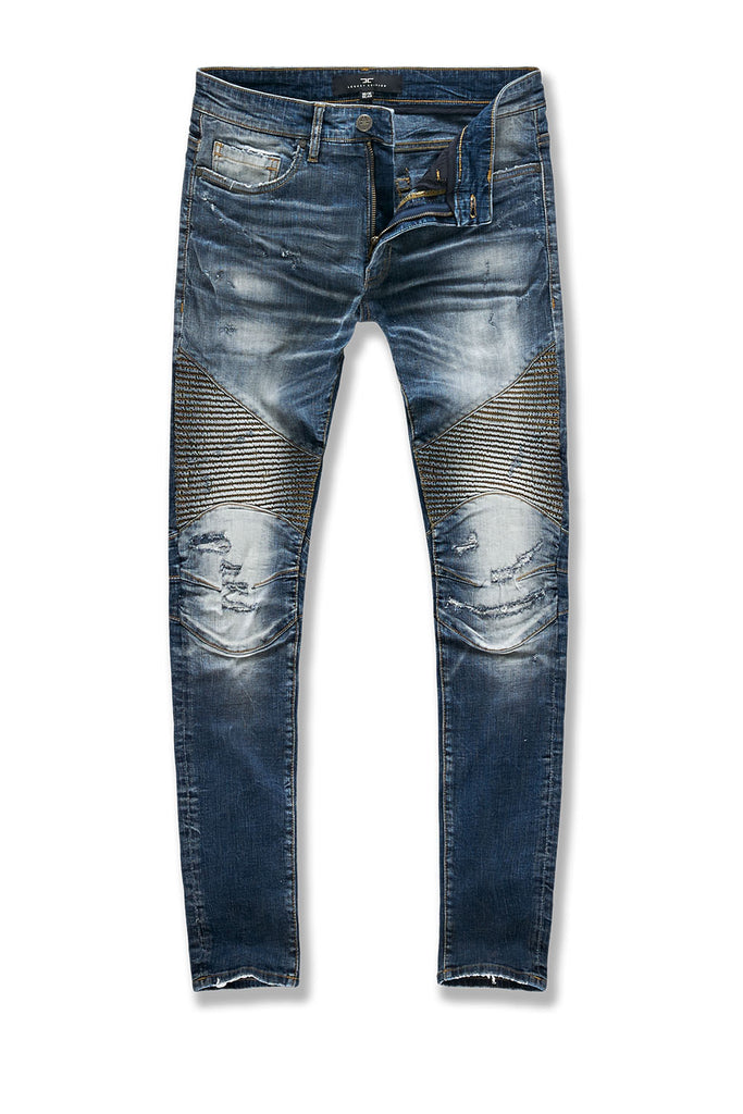 Sean - Soho Moto Denim (Midnight Blue)