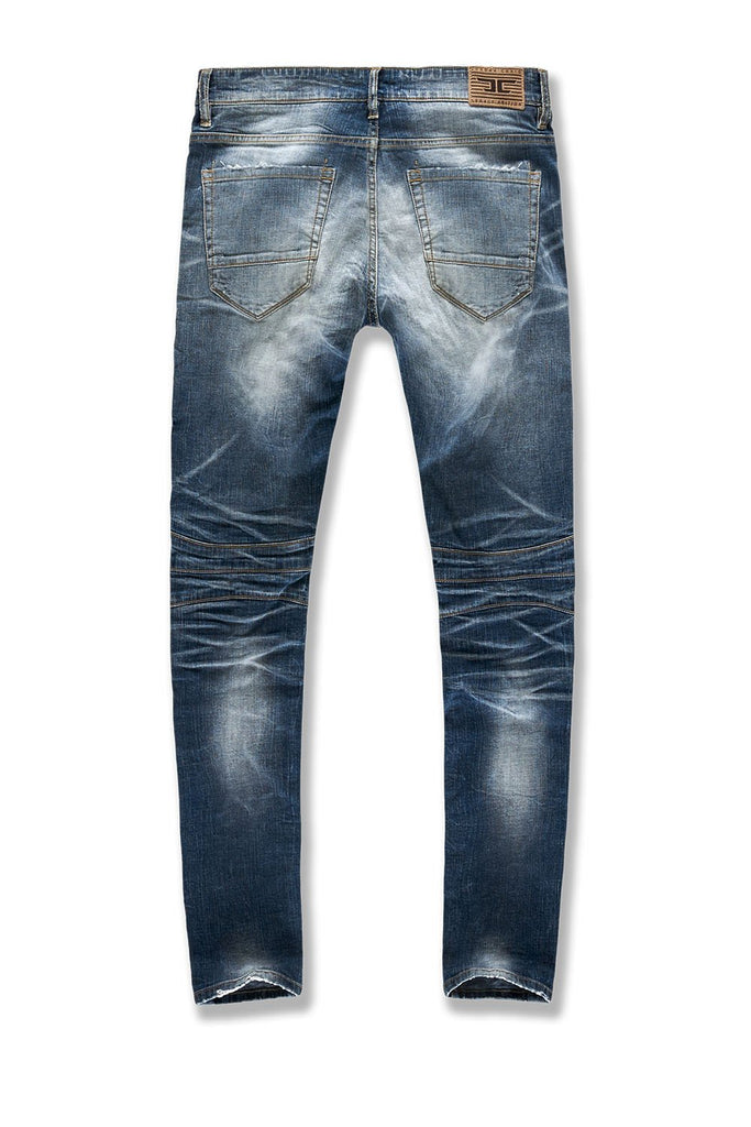 Big Men's Soho Moto Denim (Midnight Blue)