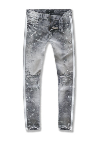Sean - Sugar Hill Striped Denim (Arctic White)