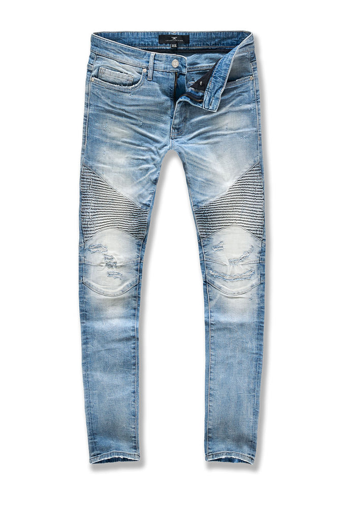 Sean - Soho Moto Denim (Lightning Blue)