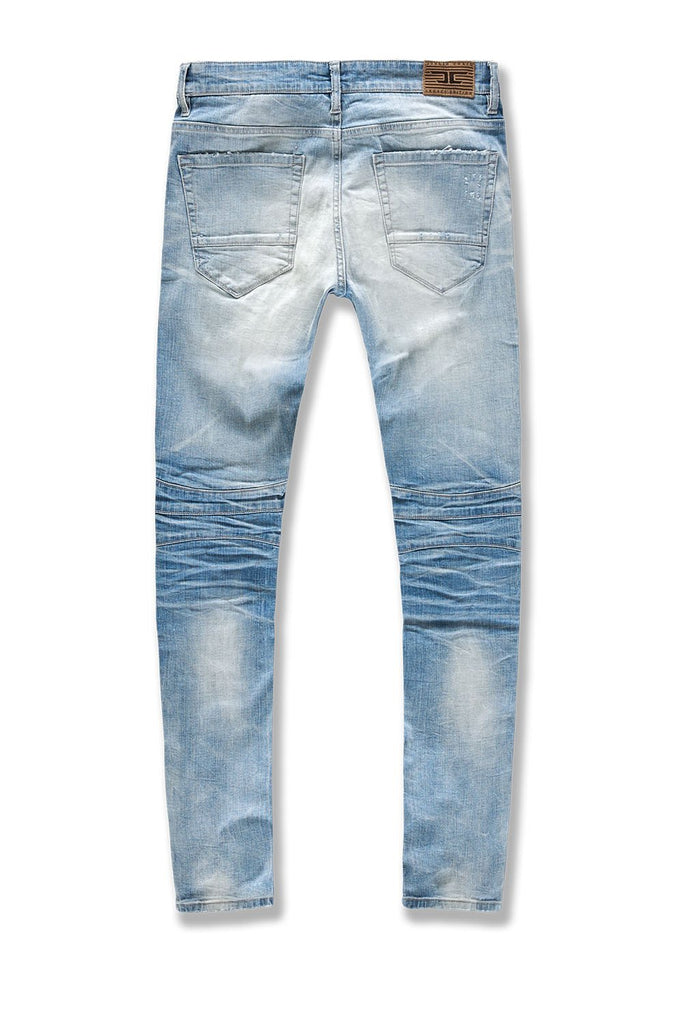 Big Men's Soho Moto Denim (Lightning Blue)