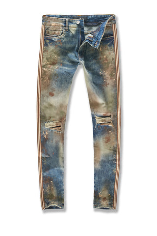 Sean - Sugar Hill Striped Denim (Woodland)