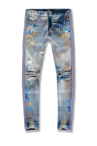 Big Men's Talladega Striped Denim (Miami Vice)