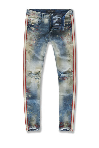 Sean - Sugar Hill Striped Denim (Pumice)