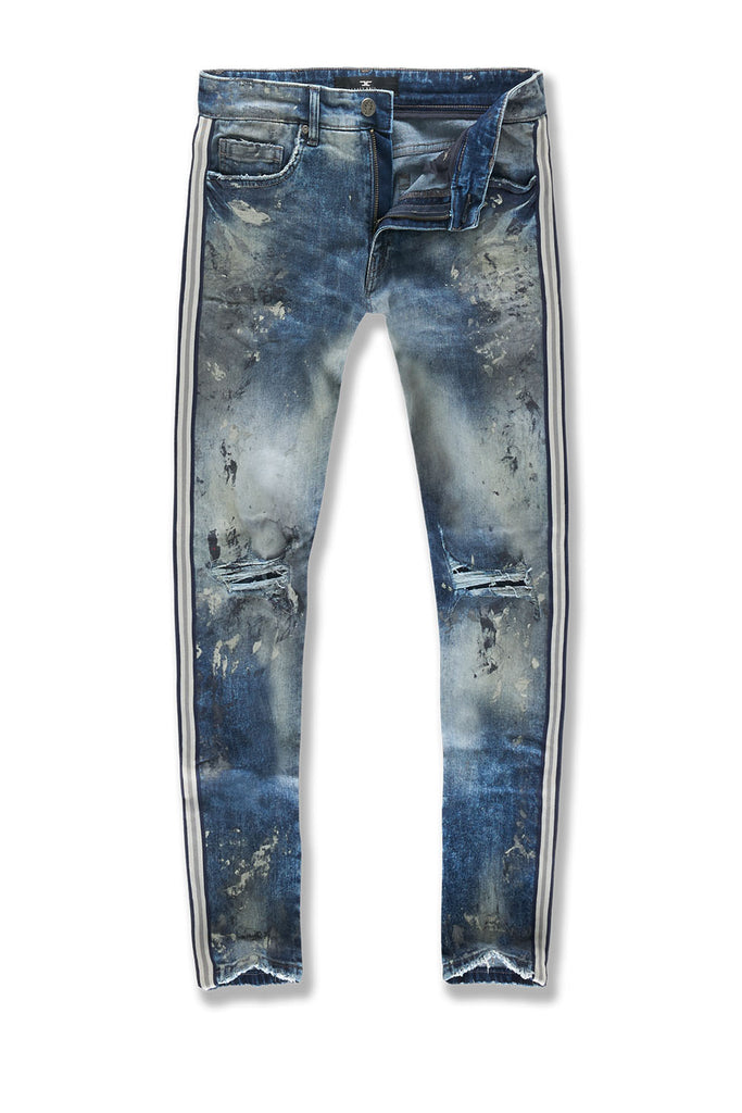 Big Men's Sugar Hill Striped Denim (London Blue)