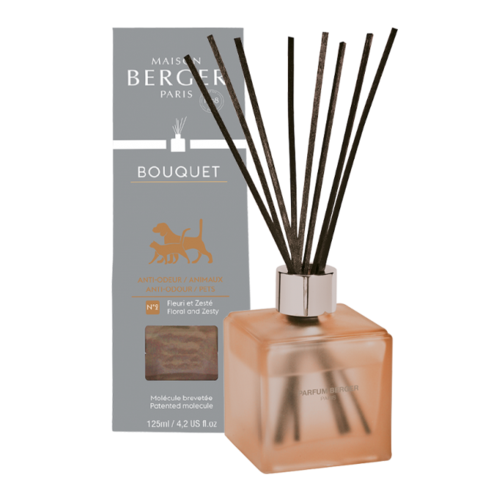 Anti-Odor Pet Floral & Zesty Pre-Filled Cube Reed Diffuser Maison Berger formerly Lampe Berger