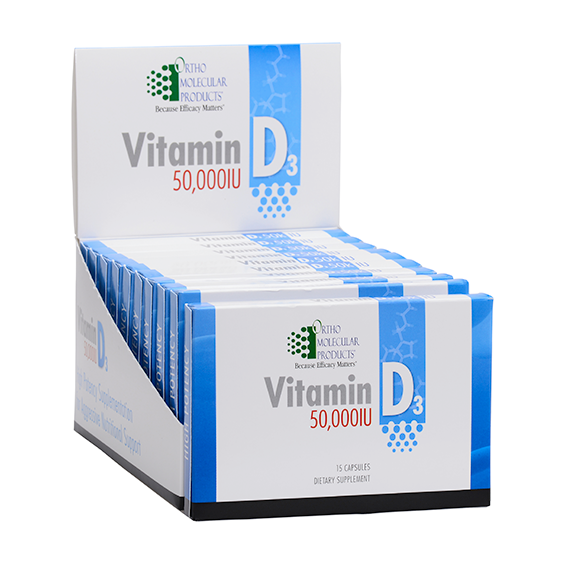 Ortho Molecular Vitamin D3 50,000IU (15 Capsules) - D & D Collectibles