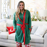 Classic Robe Green/True Red by Royal Standard Holiday