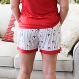 Holly Jolly Holiday Sleep Shorts Royal Standard Pajamas Lounge Wear