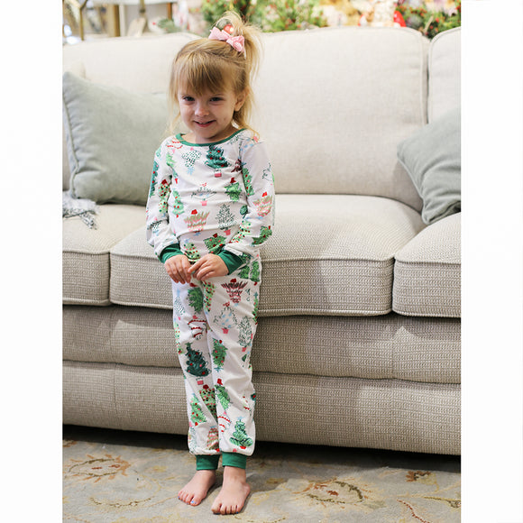 Kid's Treeful Holiday Pajamas Royal Standard Pajamas