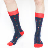 Men's Joyeux Noel Sock Trio Royal Standard Holiday