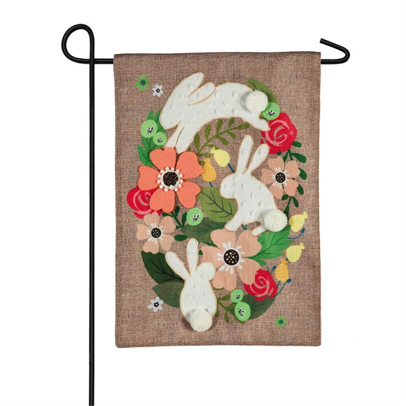 Spring Bunnies Burlap Garden Flag Easter - D & D Collectibles