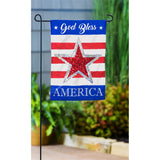 God Bless America Star Garden Flag - D & D Collectibles