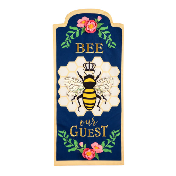 Bee Our Guest Everlasting Impressions Garden Flag Evergreen*