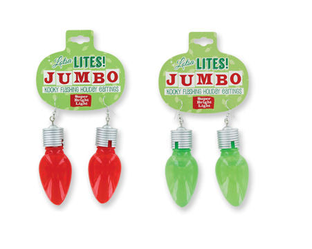 Jumbo Lotsa Lites Flashing Earrings