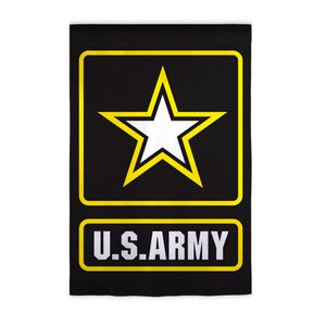 U.S. Army Garden Flag Patriotic Applique Evergreen - D & D Collectibles