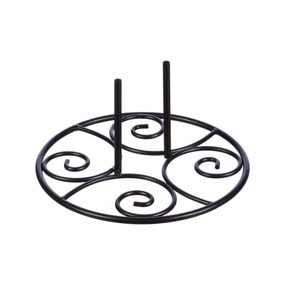 Elegant Swirl Stand Base for Garden Flag - D & D Collectibles