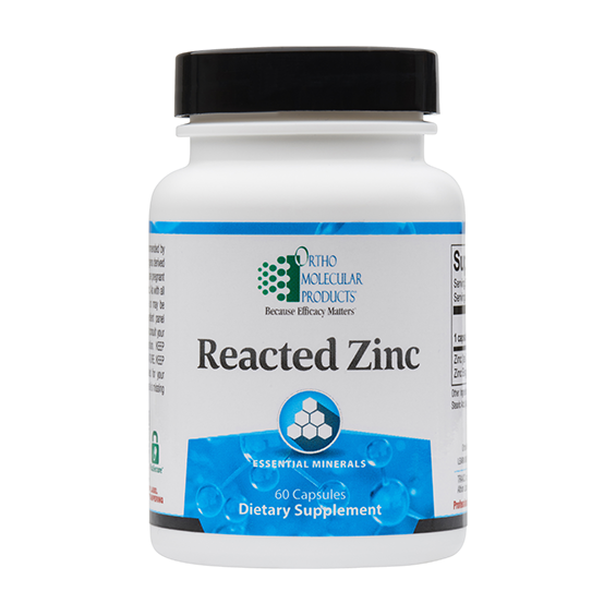 Ortho Molecular Reacted Zinc (60 Capsules) - D & D Collectibles