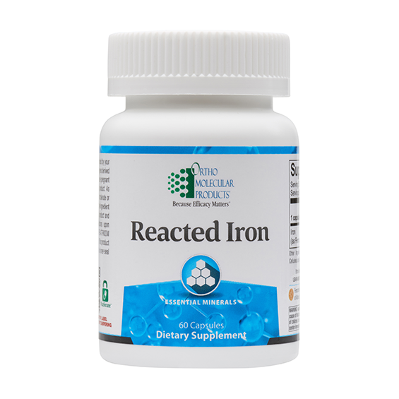 Ortho Molecular Reacted Iron (60 Capsules) - D & D Collectibles