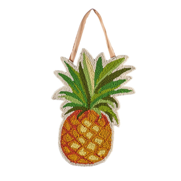 Pineapple Hooked Door Decor - D & D Collectibles