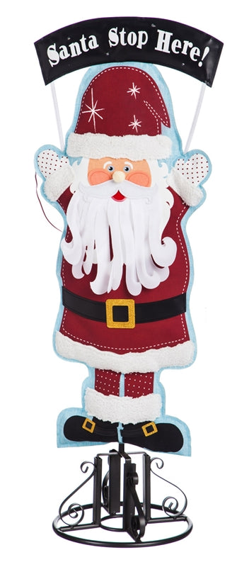 "Santa Stop Here Statement Stakes 36"" - D & D Collectibles"