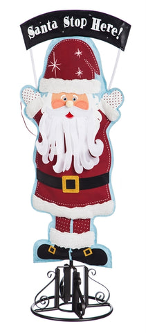 Santa Stop Here Statement Stakes 36""