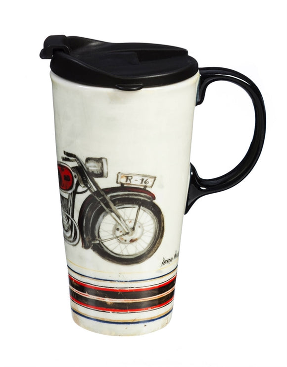 Motorcycle Ceramic Mug The Perfect Cup - D & D Collectibles