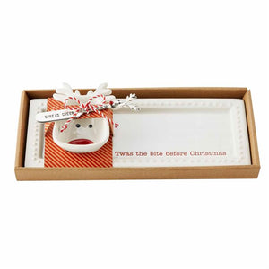 Tray and Reindeer Bowl Set by Mud Pie