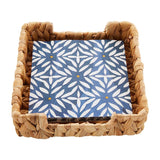Napkin Set Geometric Daisy Navy by Mud Pie Circa