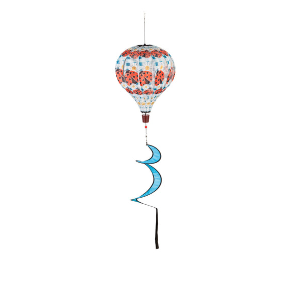 Lady Bug Plaid Balloon Wind Spinner