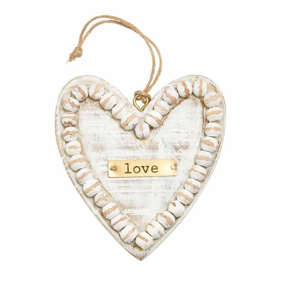 Beautiful Heart Beaded Ornament Ornament by Mud Pie