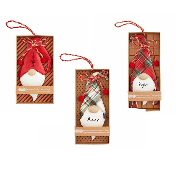 Ceramic Gnome Ornaments by Mud Pie 3 Different Styles
