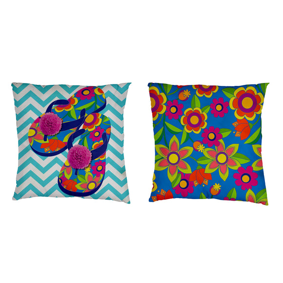 Flip Flop Life Interchangeable Pillow Cover